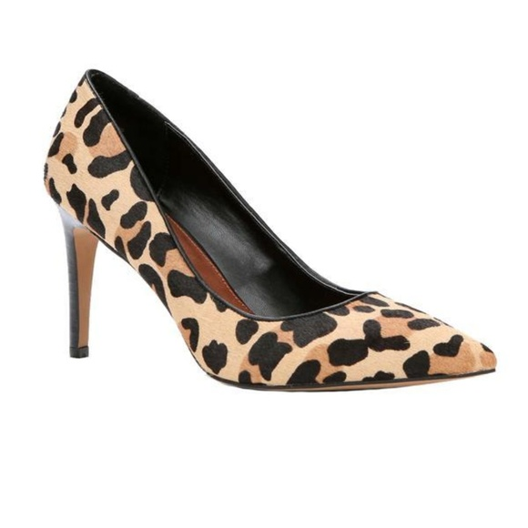 LOFT Shoes - New Ann Taylor Loft modern leopard haircalf pumps